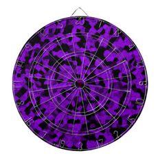 """Black and purple shades of chalk dartboard""  #gamenight"