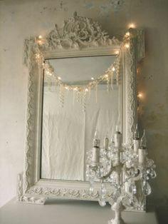 Miroir mon beau miroir - Via le blog de Dominique  ambiance romantique