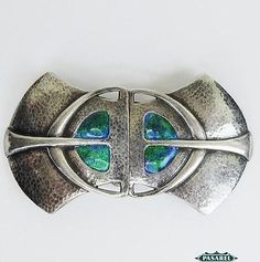 Antique Silver Enamel Art Nouveau Buckle C1907 By William Hair Haseler Liberty Fine