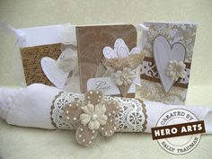great idea for a napkin ring for a wedding or other event.