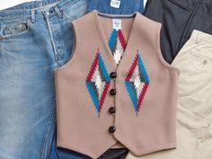 オルテガ 手織りチマヨ・ベスト 83RG-36283 サイズ36 ベージュ アメリカ製