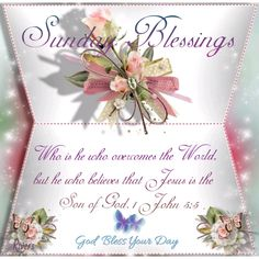 Sunday Blessings ~~J Sunday Church Quotes, Sunday Bible Verse, Blessed Sunday Quotes, Sunday Wishes, Sunday Greetings, Have A Blessed Sunday, Sunday Love, Thankful And Blessed, Sunday Morning Prayer