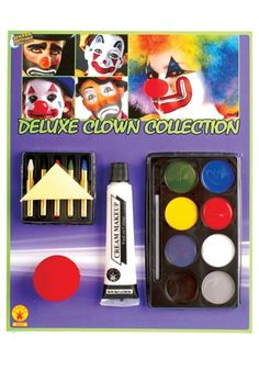 Killer clown or cuddly clown, you decide with a Deluxe Clown Makeup Set. It contains everything you need to create the perfect look, even if it means terrorizing others.