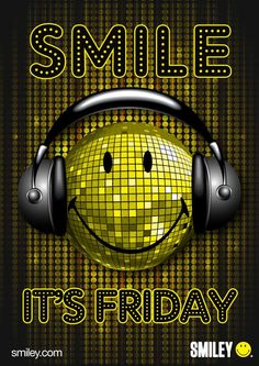Smile It's Friday Just Smile, Happy Smile, Smile Face, Smiley Emoticon, Smiley Happy, Its Friday Quotes, Friday Humor, Good Morning Good Night, Good Morning Quotes