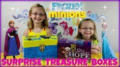 Frozen Elsa and Anna Surprises Box vs Minions Surprise Box