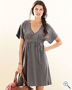 Garnet Hill empire waist, v neck, loose over belly