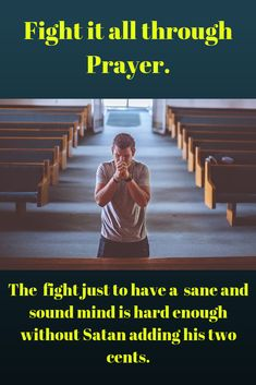Fighting negative thoughts through prayer is so important. Don't let the enemy come in and mentally destroy you. Fight back on your knees, crying out to God. Don't Let, Let It Be, Cry Out, Negative Thoughts, Crying, Prayers, Mindfulness, Posts, God