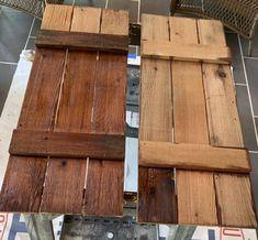 How to Make Cedar Shutters Wooden Shutters Exterior, Shutters Brick House, Cedar Shutters, Rustic Shutters, Cedar Siding, Wood Shutters, Window Shutters, Repurposed Shutters, Window Frames