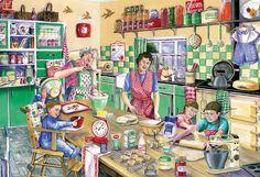 De keuken - Gibsons Baking Day Jigsaw Puzzle (500-Piece)