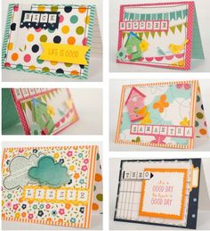 Cards made with the Pebbles Sunnyside Collection