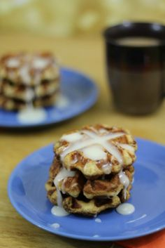 Cinnamon Roll Waffles are so easy to make. They cook quickly and I love this recipe! You will not believe how great they are!