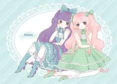 anime girls in lolita