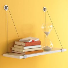 The Container Store > Cable Brackets with White Melamine Shelf