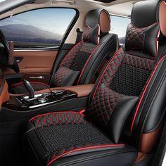 Universal Leather car seat covers For Kia soul cerato sportage optima RIO sorento K2K3K4K5 sorento Ceed car accessories styling #Affiliate