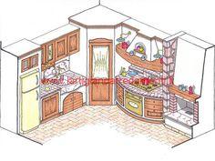 cucine country prezzi disegni di cucine in muratura   cucine ... - Disegni Cucine