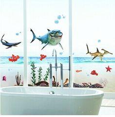 Goedkope Xy8078 gratis verzending kid's nemo haai sticker waterdicht behang voor badkamers douche glazen deur muurtattoo muursticker, koop Kwaliteit muurstickers rechtstreeks van Leveranciers van China: Van harte welkom om onze winkel genieten van winkelen!  Hallo vrienden,  Omdat dit item waarde is laag, dus