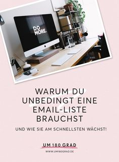 Warum Du unbedingt eine E-Mail-Liste brauchst – und wie sie am schnellsten wächst! via @um180grad E-mail Marketing, Affiliate Marketing, Content Marketing, Online Marketing, Business Advice, Business Opportunities, Online Business, Core Curriculum, Blog Online