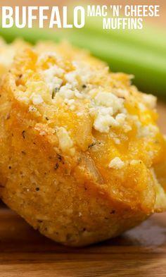 You gotta make these buffalo mac 'n' cheese muffins!