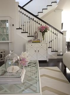clean look, next to staircase