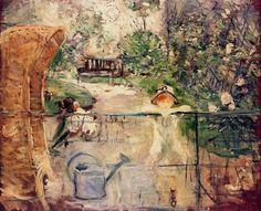 Berthe Morisot - Julie and Eugene Manet French Impressionist Painters, Impressionist Artists, Edouard Manet, Pierre Auguste Renoir, Google Art Project, Berthe Morisot, Camille Pissarro, Vintage Artwork, Claude Monet