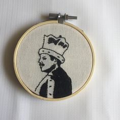This hand embroidered bamboo hoop is ready to hang! Thank you for shopping handmade! Embroidery Hoop Art, Embroidery Patterns, Office Space Decor, Stitch Witchery, Gifts For Readers, Small Art, Freddie Mercury, Handmade Shop, Small Gifts