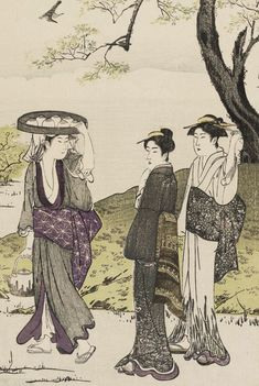 """...Ukiyo-e woodblock print, 1780's, Kubo Shunman""    The Kimono Gallery"