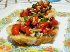 Stuzzichini di champignon e peperone  #veganrecipes #ricettevegane #stuzzichinipeperoni #stuzzichinifunghi #peppers #musrooms