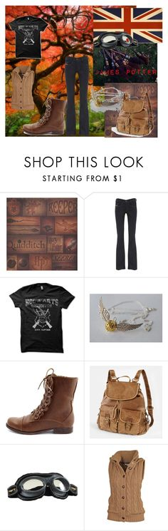 """James Potter"" by mkeb ❤ liked on Polyvore featuring Diesel, Charlotte Russe, Elope, Fat Face, Madewell and james potter harry potter hogwarts sporty quidditch griffindor keeper"