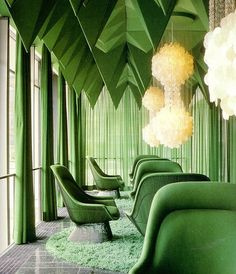 Lobby of Spiegel publishing house, Hamburg, by #VernerPanton.