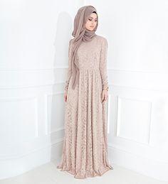 Blush Lace Gown - £89.99 : Inayah, Islamic Clothing & Fashion, Abayas, Jilbabs, Hijabs, Jalabiyas & Hijab Pins
