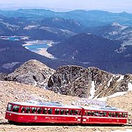 Pikes Peak, Colorado,  Cog Railway, We decided to drive instead of taking the Cog railway... Scariest drive I've ever taken getting to the top of Pikes Peak! But it was beautiful!
