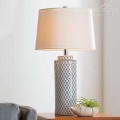 Stoneware Table Lamp, Indigo U0026 White ☆ Creative Co Op Home