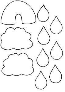 Raindrop Template From Katescreativespace  Paper Cuts