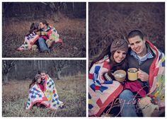 Derek + Whitney : Engaged | North Carolina Wedding Photographers » Joy Davis Photography engagement session, blanket, cold engagement, winter time shoot