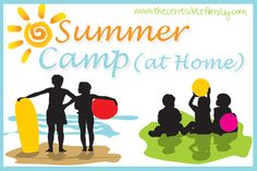 Summer Camp At Home Series: Weekly themed activities, projects, reading and more designed for fun for the summer! Summer Daycare, Kids Daycare, Summer School, Summer Kids, Summer 2015, Summer Camp Themes, Summer Camp Activities, Activities For Kids, Summer Camps