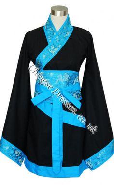 Beautiful Chinese Traditional Knee Length Hanfu Dress