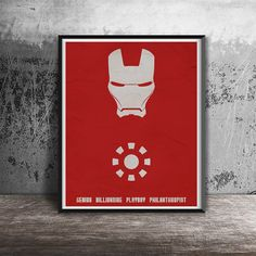 Movie poster printIron Man movie poster by OandBstudios on Etsy