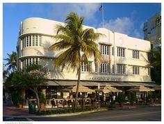 Miami Beach: The art deco Cardozo Hotel (1939) by Henry Hohauser, Ocean Drive, Miami Beach.