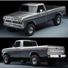 Jacked Up Trucks, Old Ford Trucks, Classic Ford Trucks, Old Fords, Old School, 4x4, Vehicles, Motorcycles, Projects