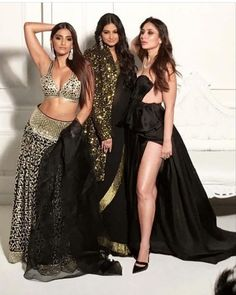 Special Photo Shoot For Veere Di Wedding: Sonam Kapoor And Kareena Kapoor Khan Are Looking Gorgeous With Rhea Kapoor - GagBrag Kareena Kapoor Khan, Deepika Padukone, Indian Bollywood, Bollywood Fashion, Bollywood Celebrities, Bollywood Actress, Mouni Roy Dresses, Rhea Kapoor, Karena Kapoor