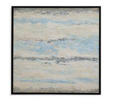 Morning Horizon Framed Painting Print on Canvas