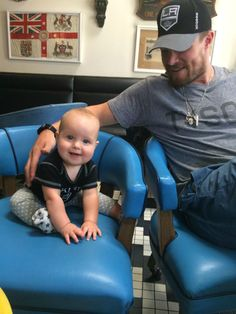 Stephen Amell and his daughter, Mavi. She is just too precious!