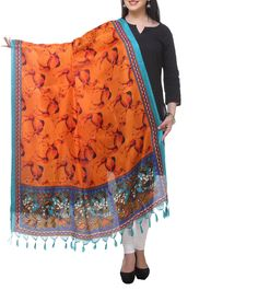 Buy Dupatta Online For Women At Best Prices From Indiarush. Shop Perfect Color, Designs And Patterns Of Dupattas From Our Latest & Huge Collection For Girls & Women With ✓ Free Delivery* Days Return* ✓ Cash On Delivery. Diwali Sale, Ethnic Fashion, Womens Fashion, Silk Dupatta, Yellow Print, Indian Outfits, Fashion Accessories, Menswear, Printed