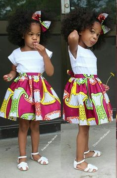 Ankara Styles For Kids; Little Girls And Baby Girls Ankara Styles Ankara Styles For Kids, African Dresses For Kids, African Babies, African Children, Latest African Fashion Dresses, African Inspired Fashion, African Print Fashion, Africa Fashion, African Attire