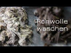 Rohwolle waschen (mit Unicorn Power Scour) - YouTube