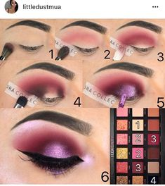 Step by Step Tutorial using the Gold Rose Palette by HudaBeauty