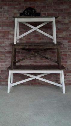 Small-Large Rustic X Bench | Do It Yourself Home Projects from Ana White