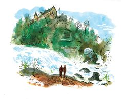 #DanWilliams #landscape #river #lifestyle #hillside #castle #acrylic #watercolor #lindgrensmith