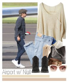 """""""· Airport w/ Niall ·"""" by zaynismybaex ❤ liked on Polyvore featuring AG Adriano Goldschmied, H&M, Timberland and Eloquii"""