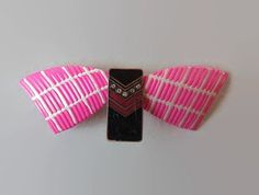 Pink and Black Hair Barrette Women Hair Clip Hair Accessories Hair Accessory Upcycle Barrette Hair Pin Girls Hair Slide French Gift For Her